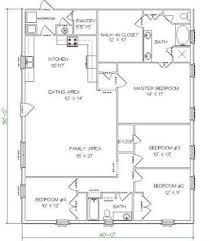 4 Bedrooms And 2 Bathrooms Barndominium Floor Plans