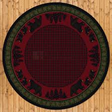 8ft diameter 92in bear family round area rug number 202406