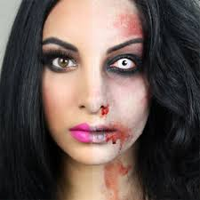 rockabilly zombie 25 y horror face makeup ideas looks