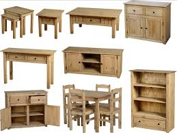 panama mexican pine furniture dining set nest coffee tables bookcase sideboard