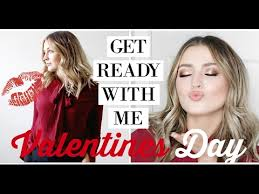 valentines day date night grwm makeup hair outfit ad allanaramaa
