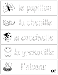 Worksheets French - Spring