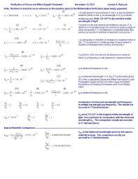Doppler Effect Equation Light Doppler Effect Worksheets Mathematical Verification Of