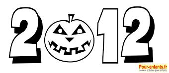 Halloween 2012 Dessin Date Imprimer Dessins Citrouille Coloriage
