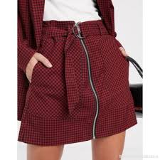 Size Chart Stradivarius Check Skirt In Red Suppliers Store