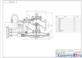 Расчетный курсовой проект системы газоснабжения предприятия  Чертеж регулятора давления РДУК2 100
