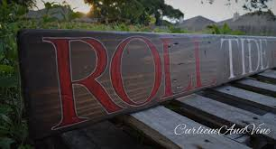 >university of alabama crimson tide roll tide wall art rustic