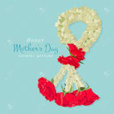 Happy Mother's Day, Thai Traditional Jasmine Garland, Illustration..  Royalty Free Cliparts, Vectors, And Stock Illustration. Image 63263139.
