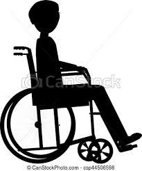 概念 シルエット 車椅子 医療のイラスト 不具 ベクトル 健康 背景 人