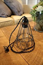 unique hanging light fixture with plug with industrial antique brass cage wire hanging pendant light handmade with plug switch lighting plug in pendant