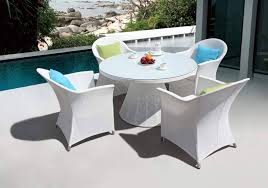 pool furniture used patio furniture a set of white round table and plastic