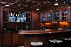basement bar lighting ideas. Excellent Lighting Idea Of Basement Bar With Ceiling Lamps And Lights Under Cabinet Ideas