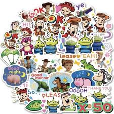 50x Toy Story 4 Disney Stickers Woody Buzz Lightyear Forky For Party Gift Bags