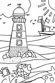 Small Picture Lighthouse Coloring Page Syougitcom