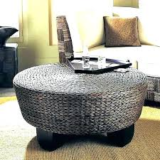 wicker storage ottoman round rattan coffee table australia ot