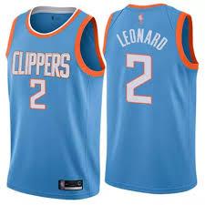 Nike Nba Official Men Basketball Jersey La Clippers Kawhi Leonard 2 2019 2020 Blue City Edition Classic