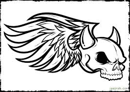 horns skull coloring pages for kids