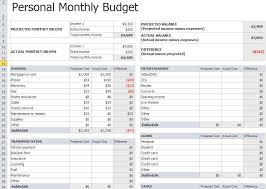 Monthly Personal Budget Spreadsheet Personal Monthly Budget Template Budget Spreadsheet