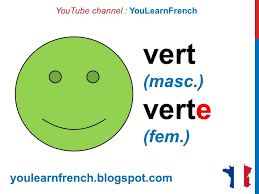 French Lesson 2 - Colors in French Colours Vocabulary Masculine ...