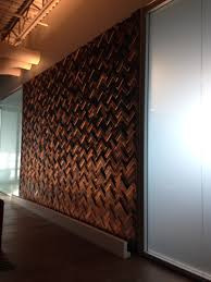 office feature wall. Barn Wood Wall Tile Feature Office H