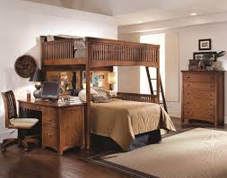 Image of: Modern Queen Loft Bed Frame
