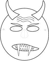 Kleurplaat Masker Van Halloween 9432 Kleurplaten