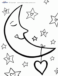 Small Picture Sun And Moon Coloring Page Coloring Home