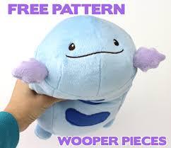 Plush Pattern Amazing Free Pokemon Plush Sewing Pattern Wooper Pieces