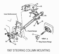 1967 late 1968 corvette standard non adjustable steering column disassembly repair instructions paper 2 disassembly