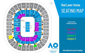 Melbourne Rod Laver Arena Seating Chart Australian Open Seating Plan Rod Laver Arena