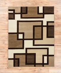 uptown squares ivory  brown modern geometric comfy casual hand