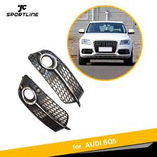Audi Q5 Fog Light Bulb Type Us 72 96 15 Off Abs Fog Lamp Grille For Audi Q5 S Line Sq5 Sport 2014 2017 4 Door Front Bumper Grill Abs Fog Light Box In Racing Grills From