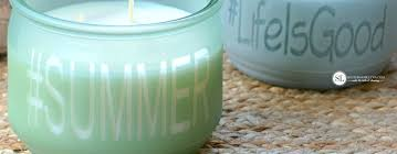 diy sea glass personalized candle jars michaelsmakers bystephanielynn
