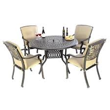 kensington firepit 120 dining table 4 dining chairs