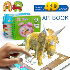 4d 3d ar book fancy zoo teaching numbers learning alphabet kids books educational books air gun