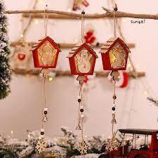 Đồ trang trí Ngôi Nhà Có Đèn Led Trang Trí Giáng Sinh