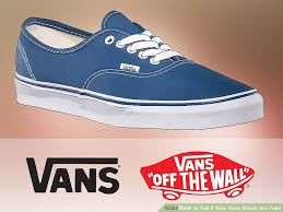Fake Vans 3 Ways To Tell If Your Vans Shoes Are Fake Wikihow