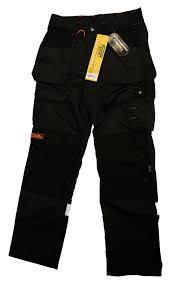 Work Trousers For Men Black Hammer Trousers