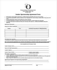 sponsorship agreement sample sponsorship agreement forms 8 free documents in pdf