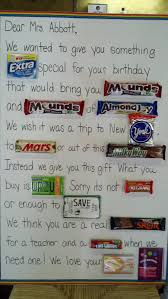 Candy Bar Card This Was Fun To Do For The Teacher But You Can T