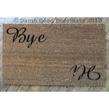 Cursive Script Hi Bye sweet doormat cute door mat