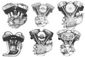 similiar panhead engine vector art keywords harley davidson knucklehead engines from top left to bottom right