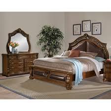 bedroom furniture morocco 5 piece king upholstered bedroom set pecan
