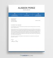 Word Cover Letters Free Cover Letter Template Alisson Career Reload