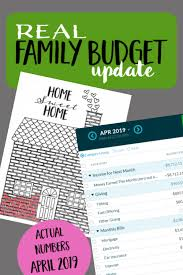 Family Budget For A Month Real Family Budget Update April 2019 Six Figures Under