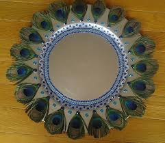 Decorative Platters And Trays Decorative Tray with Peacock Feathers CELEBRATIONGIFTDECOR 1