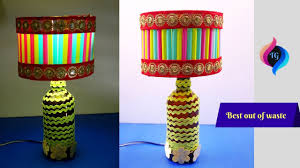 Diy Lamp How To Make A Lampshade From Recycled Materials Best Out Of Waste Lamp Shade