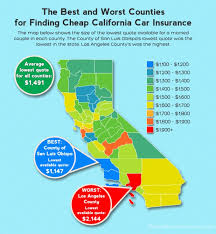 Car Insurance Quotes California New Cheapest Counties For California Car Insurance Online Auto