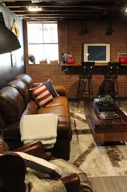Best  Sports Theme Basement Ideas On Pinterest - Unfinished basement man cave ideas