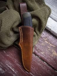 leather sheath for mora companion heavy duty bushcraft knife